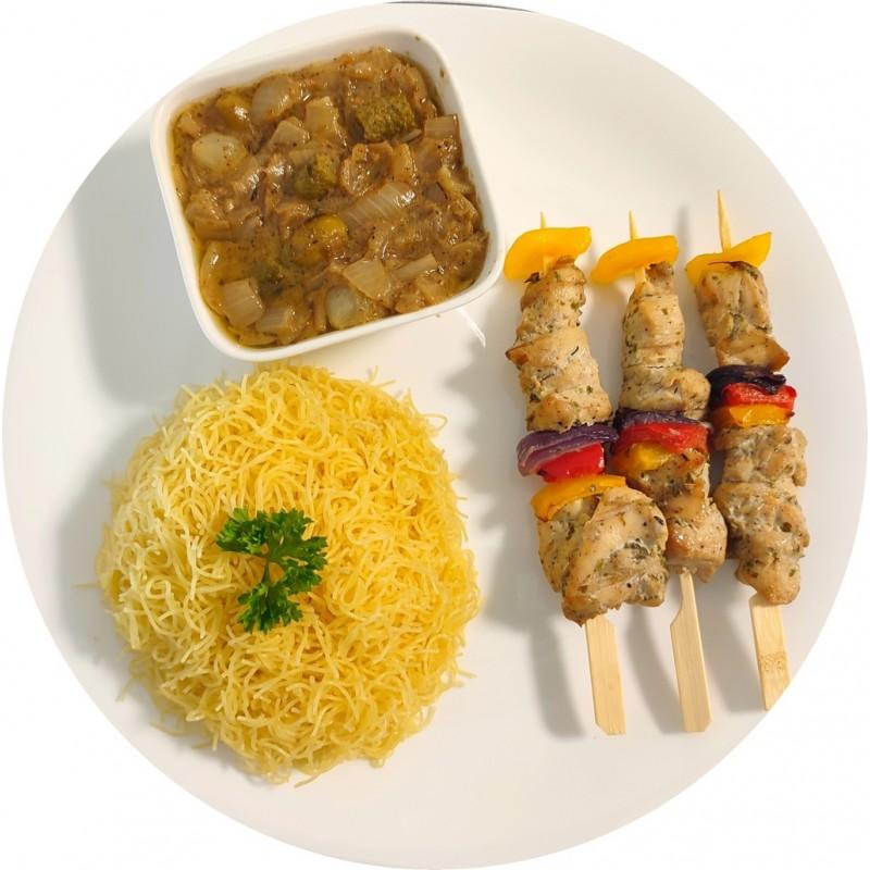 Vermicelles brochettes de poulet : Restaurant Africain Meaux