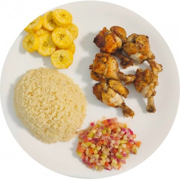 Attiéké Wings de Poulet : Restaurant Africain Meaux
