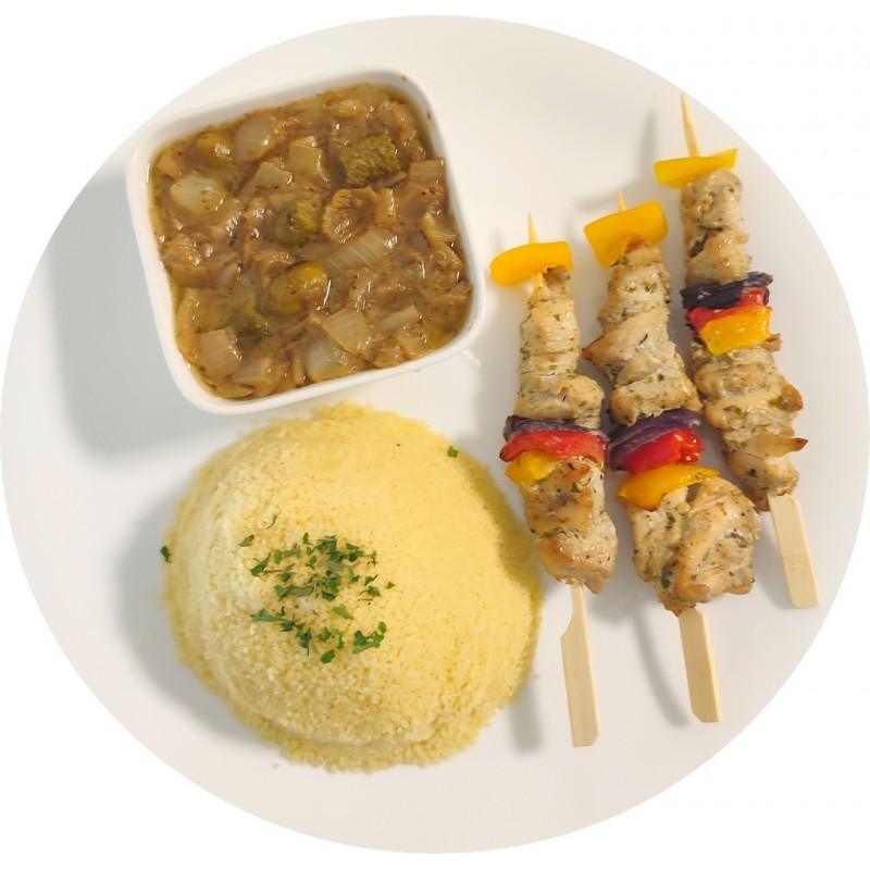 Couscous brochettes de poulet : Restaurant Africain Meaux