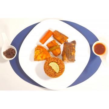 Thiéboudienne rouge ( Riz au poisson rouge ) Meaux