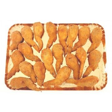 Plateau dinatoire de 20 ailes de poulet farcies et panées avec salade